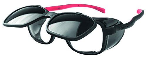 OPTOR 1095D6 Pegaso 1095D6-Gafas Proteccion Gama Modelo Duplex Soldadura DIN 6, Negro Y Rojo, L