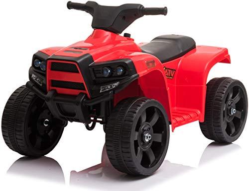 Wonderlanes Beyond Infinity Children's Ride On Mini ATV, Red - 6V Battery Powered Wheels, for Ages 1-3