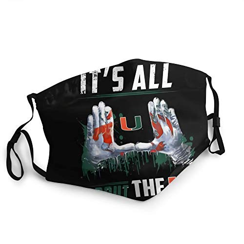 Pasdokzxc Miami Hurricanes All About The U Outdoor Face Mouth Mask Windproof Sports Mask Ski Mask Shield Scarf Bandana Men Woman