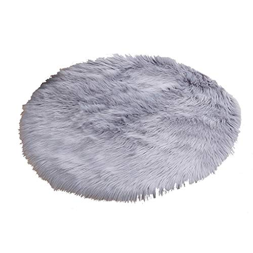 Review Of CarPet Round Bedroom Dressing Table Super Soft Fluffy Small Mat (Color : Gray, Size : 120Ã...
