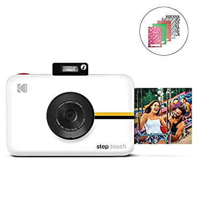 Kodak Step Touch | 13MP Digital Camera & Instant Printer with 3.5 LCD Touchscreen Display, 1080p HD Video - Editing Suite, Bluetooth & Zink Zero Ink Technology | White from Zink