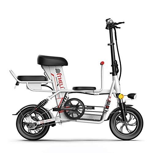 RPHP elektrische fiets voor ouders, kind, 12 inch, opvouwbare elektrische fiets, afneembare batterij, elektrische fiets, reizen, elektrische auto