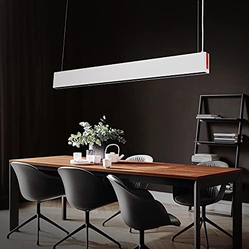 Pendelleuchte LED hängeleuchte esstisch büro höhenverstellbar esszimmerlampe esszimmer Hängelampe industrial weiss