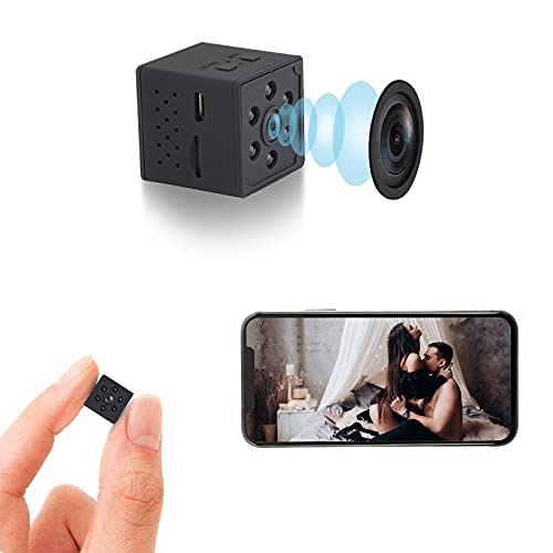 Spy Camera Mini WiFi Hidden Camera with Audio Small Nanny Cam 1080P Wireless Portable Indoor Outdoor Security Camera with Phone App, Motion Detection, Night Vision,Small Cam 2021 Upgrade