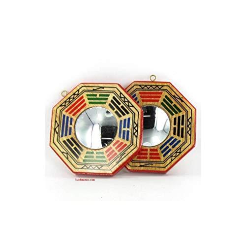 lachineuse Bagua Traditional Feng Shui de protección – Espejo Convexo – 10,5 cm de diámetro