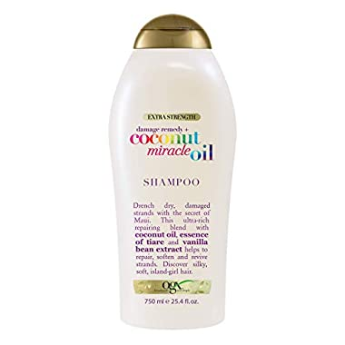 OGX Extra Strength Damage Remedy + Coconut Miracle Oil Shampoo for Dry, Frizzy or Coarse Hair, Hydrating & Flyaway…