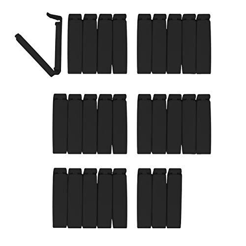 BLACK BEAUTIES Tütenclips (28 Stück) Lifestyle | 28 Verschlussclips / Beutelklammern / Lebensmittel Aufbewahrung Clips in der Farbe schwarz, jeweils mit 6 cm Länge, Cliptastisch funktionale Qualität