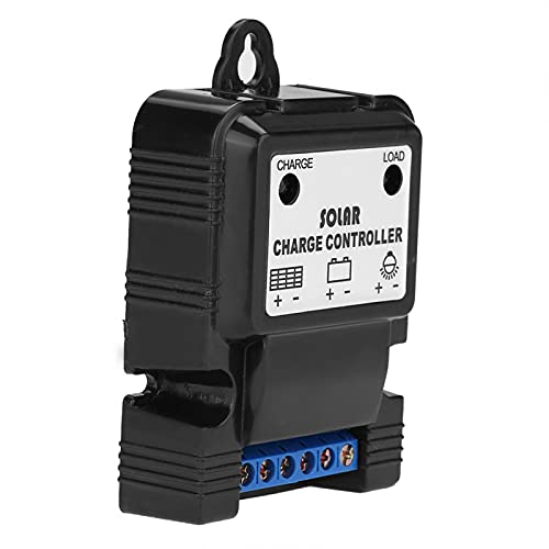 SALALIS Controlador de Cargador Solar, Mejora la eficiencia de Carga Control de Descarga Correcto 3A 12V / 24V Controlador de Carga Solar para Sistema de energía Solar