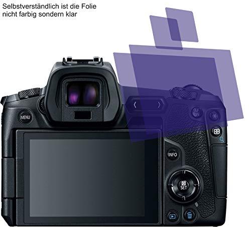 I 2X Crystal Clear klar Schutzfolie für Canon EOS R Bildschirmschutzfolie Displayschutzfolie Schutzhülle Bildschirmschutz Bildschirmfolie Folie Screen Protector