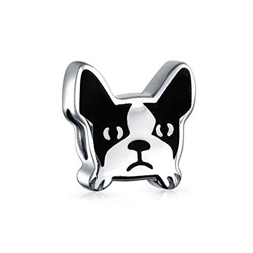 Bling Jewelry Frenchie Bulldog Francés Cara Perro Mascota Albalorio Plata...