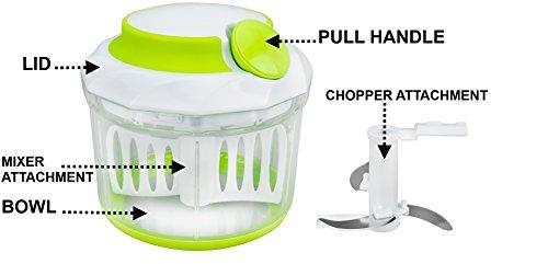 Brieftons-Quickpull-Food-Chopper-Leistungsstarker-handbetriebener-ZerkleinererMixer-950-ml-inklusive-3-Rezept-eBooks