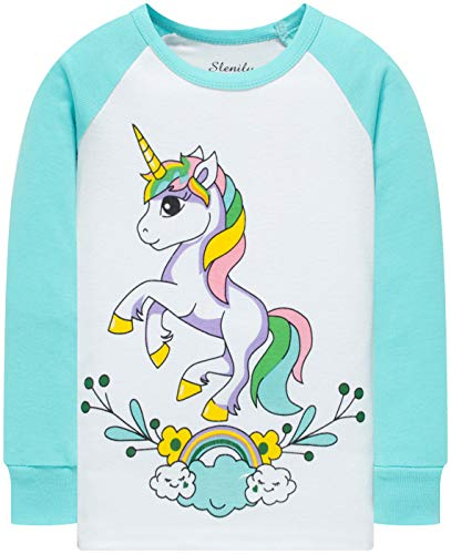 Girls Unicorn Pajamas Christmas Children Jammmies Kids Cotton Pants Set