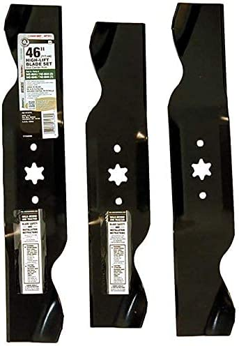 lowest MTD new arrival Genuine Parts 490-110-M116 online sale 2-in-1 High-Lift Blade Set for 46-Inch Mowers 1997 and After outlet sale