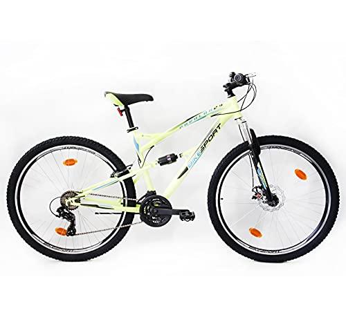 Bikesport Parallax 29' Bicicletta Biammortizzata Doppia Sospensione (Nero Blu)