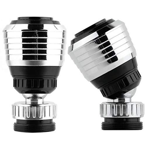 Xinlie 2 Piezas Atomizador Grifo Aireador Grifo Filtro Agua Grifo 360 Grados de Rotacion de la Cabeza Giratoria con un Filtro de Grifo Ahorro de Agua Dos Modos de Agua para Cocina y Bano
