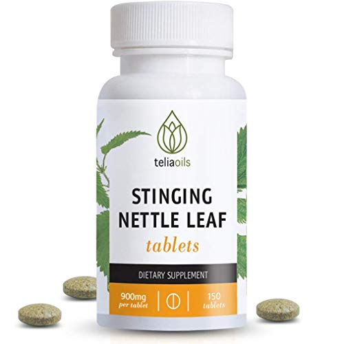 Teliaoils Stinging Nettle Leaf Tablets (150 Capsules)   900mg Wild Harvest Nettle Extract Per Tablet   Organic Herbal Supplement   Supports Healthy Histamine Levels & Respiratory Health