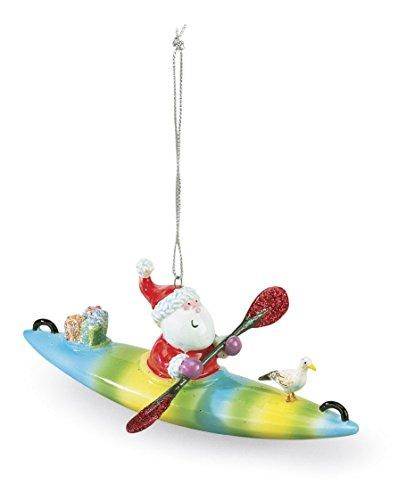 Cape Shore Santa on a Kayak Christmas Ornament