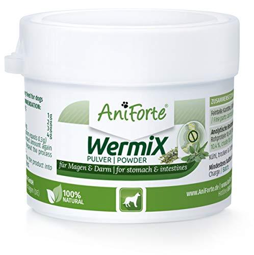 AniForte WermiX Pulver für Hunde 20g - Naturprodukt vor, während und nach Wurmbefall mit Saponine, Bitterstoffe, Gerbstoffe, Wermut, Naturkräuter harmonisieren Magen & Darm