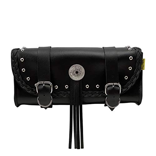 Dowco Willie & Max 58272-01 Warrior Series: Synthetic Leather Motorcycle Tool Pouch, Black, Universal