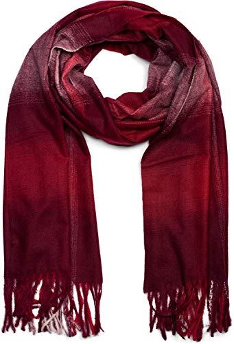 styleBREAKER uniseks sjaal met ruitjesmotief en franjes, winter, stola, sjaal 01017098