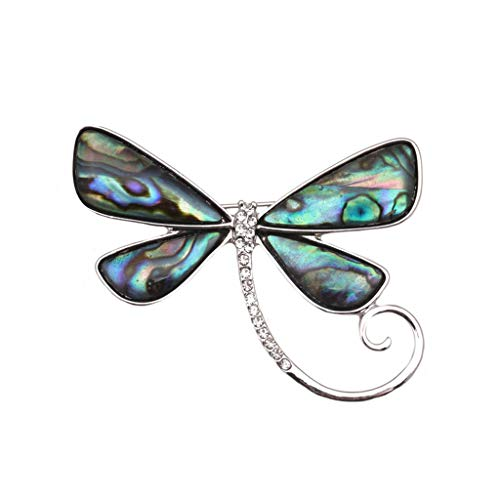 SOLEIWEI - Broches con forma de mariposa, diseño de pavo real