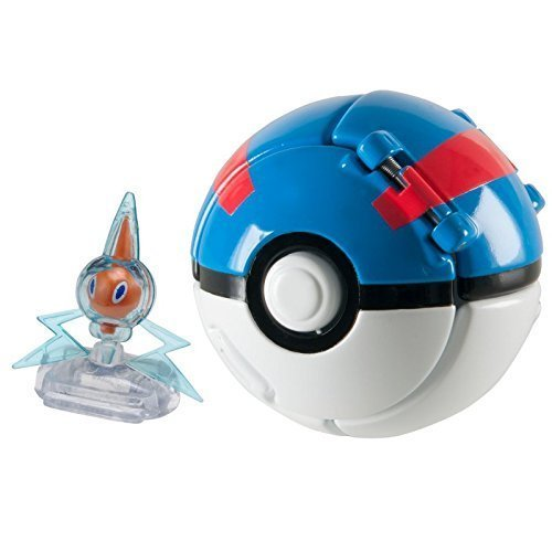 Lively Moments Throw N POP POKEBALL/POKEMON/pokemonfigur ROTOM con Superball/Motisma