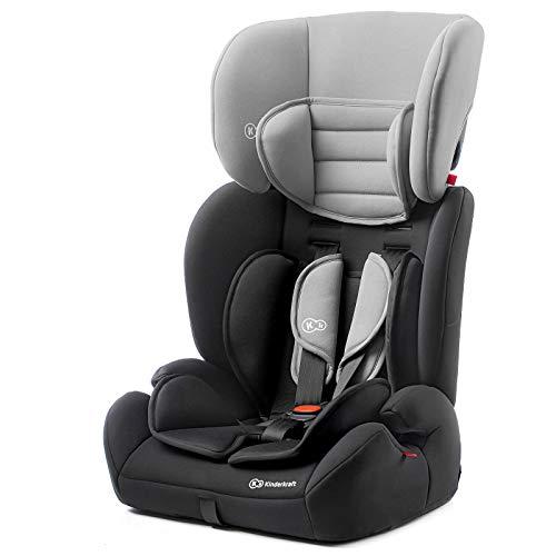 Kinderkraft Kinderautositz CONCEPT, Autokindersitz, Autositz, Kindersitz, Gruppe 1/2/3 9-36kg, 5-Punkt-Sicherheitsgurt, Einstellbare Kopfstütze, ECE R44/04, Schwarz