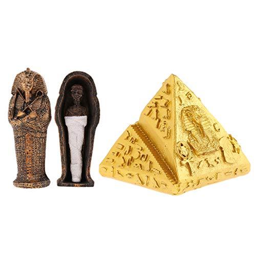 P Prettyia Egipto Modelo Resina y Pirámides Estatuilla para Niños Juguete Regalo