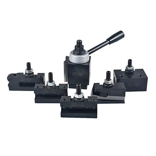 Fantastic Deal! JRL AXA Size 250-100 Set Piston Type Quick Change Tool Post Set for Lathe 6-12 US