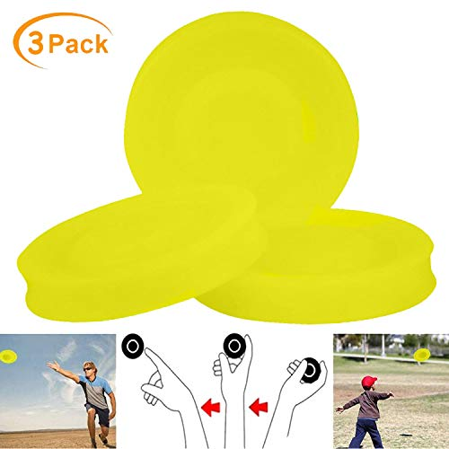 Mini Frisbee, 3PCS Silikon Frisbee, Kreative Handschub-UFO, Kleine Frisbeescheibe, Hundespielzeug Silikon Bissfest Frisbee, Perfekter Spaß für Erwachsene, Kinder, Sport, Spiele & Outdoor - Gelb
