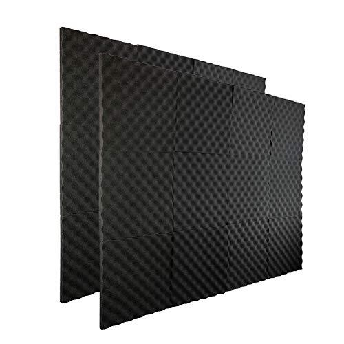 Comtervi 12/24 stuks akoestisch schuim luidspreker isolatie akoestisch schuim pads akoestische isolatie kussen demping geluidsdichte muur voor de studio thuis
