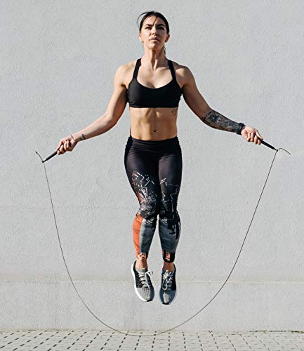 BODYMATE-Speed-Skipping-Rope-with-High-Performance-Ball-Bearings-Adjustable-Steel-Cable-with-Extra-Wear-Protection-For-Crossfit-Boxing-MMA-Functional-Core-Sports-Training-and-more