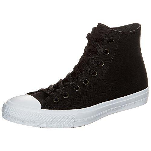 Converse Chuck Taylor All Star II High, Zapatillas Altas Unisex Adulto, Negro (Schwarz/Weiß Schwarz/Weiß), 36.5 EU