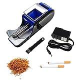 Máquina enrolladora de cigarrillos eléctrica, Máquina enrolladora automática, Mini hogar portátil, Elija varios sabores de tabaco para lanzar cigarrillos, enrolladora automática de cigarrillosBlue