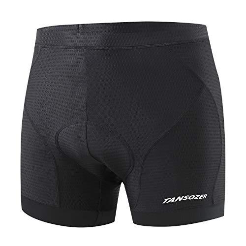 Tansozer Cycling Shorts Men Padded Cycle Shorts MTB Mountain Bike Shorts Breathable Biking Bicycle Shorts Undershorts Men Padded Underwear for Cycling Black S
