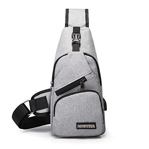 USB schoudertas heren tas sport canvas mannen borst tas outdoor Diagonaal pakket