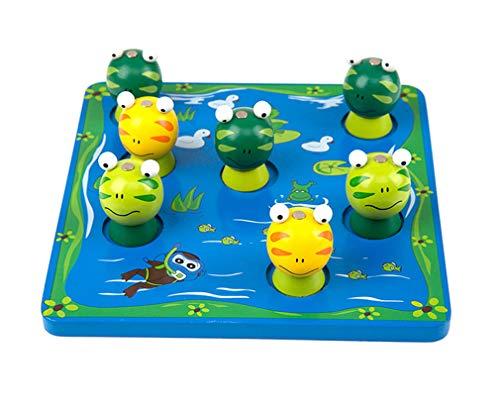 Yx-outdoor Juguetes de Juego de Pesca magnéticos de Madera para niños, Juguete de Pesca Tridimensional de jardín de Infantes de educación temprana Montessori