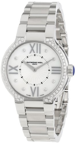 Raymond Weil Women's 5932-STS-00995 'Noemia' Stainless Steel Diamond-Accented Watch