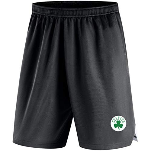 Entrenamiento De Baloncesto para Hombre De Pantalón Corto NBA Boston Celtics Atletismo De Punto Pantalón Playa Pantalones Cortos para Verano para Jóvenes con El Bolsillo Black-L