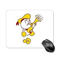 トランペットのアヒルの子マウスパッド ゲーミング オフィス最適 高級感 おしゃれ耐久性が良 付着力が強い20x25x0.3cm
