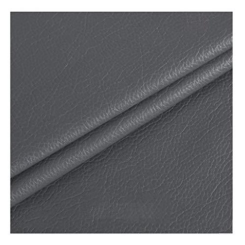ZHANGAIZHEN Patrón De Cuero Artificial Patrón De Piel De Imitación Bolsa De Cama Suave Tela De Cuero DIY138CMX100CM(Color:Gris Oscuro)