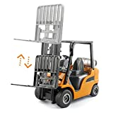 1/25 Diecast Metal Forklift Truck Toy for Kids, Construction Truck Vehicle Car Toy for Boys and Girls
