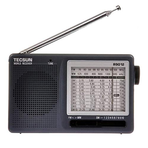 LF Stores Mini-halfgeleider, 12-bands, FM/AM/SW-mini-halfgeleider-multiband-radio-ontvanger, draagbaar, Best mini-halfgeleider, zwart, multifunctionele radio