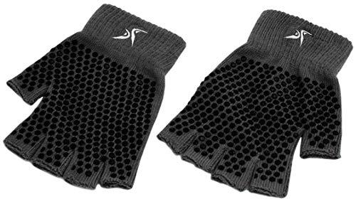 Prosource Fit Guantes de Yoga Antideslizantes, Talla única, diseño Antideslizante sin Dedos en Varios…