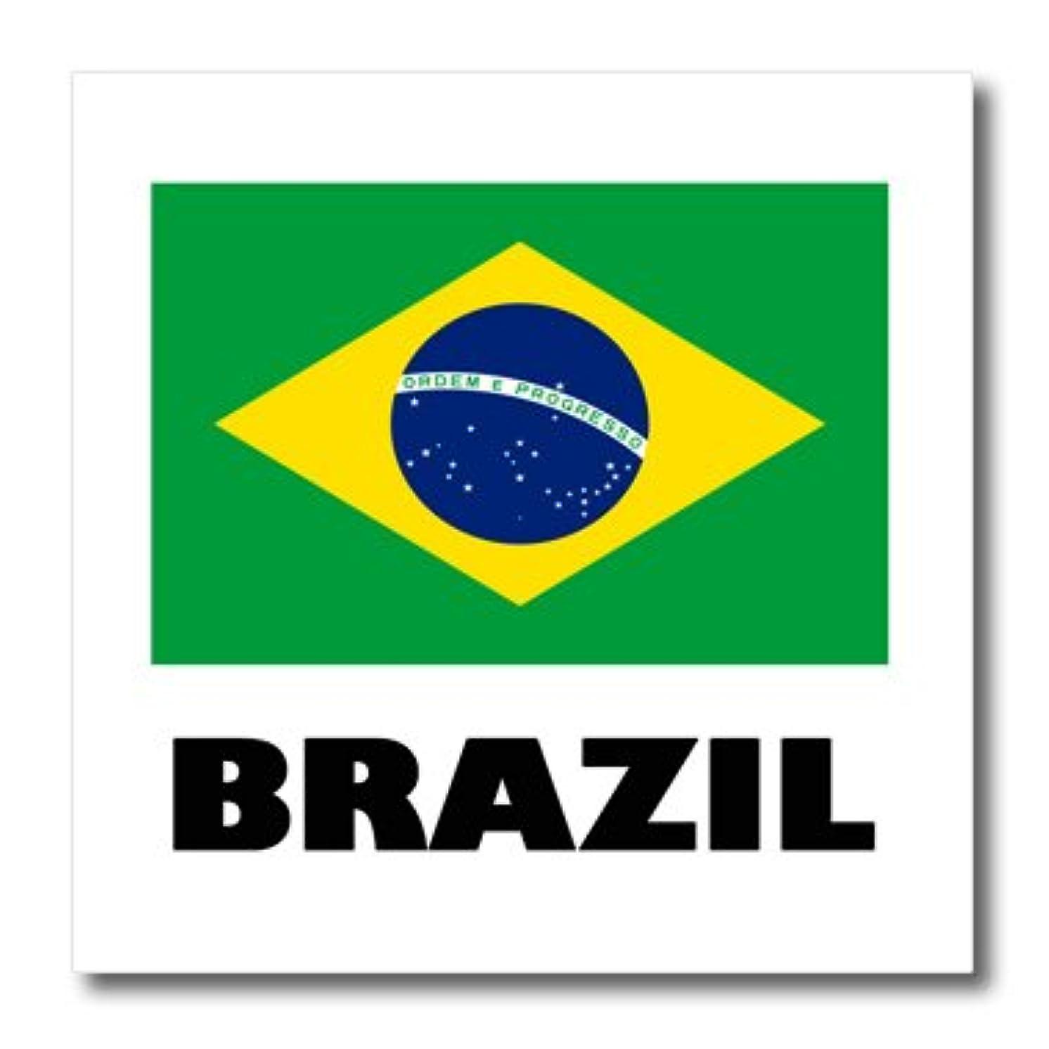 3dRose ht_193322_3 Brazil Brazilian Flag Iron on Heat Transfer, 10 by 10