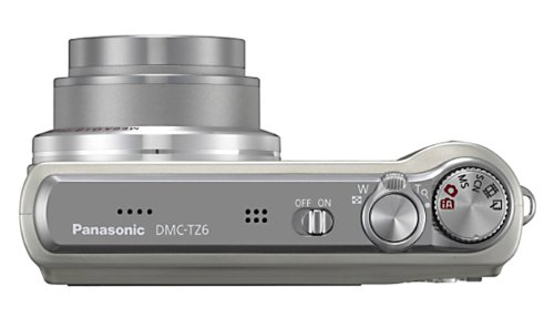 Panasonic DMC-TZ6EG-S Digitalkamera (10 Megapixel, 12-fach opt. Zoom, 6,9 cm Display, Bildstabilisator) silber