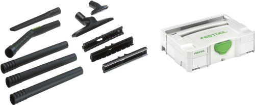 Festool Staubsauger-Reinigungs-Set 7 D 27/D 36 K-RS-PLUS (Fugensüse, Aufsätze für 4 Bodenarten), 497697, 11 tlg.
