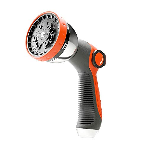Zinc Alloy Hoge druk rubber beklede Duurzaam verstelbare multifunctionele Garden Water Car Wash Nozzle Hose (Color : Orange, Size : 10x6x20cm)