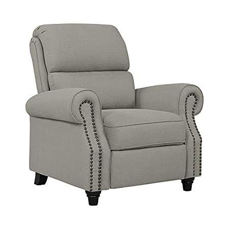 Domesis Cortez - Linen Push Back Recliner Chair