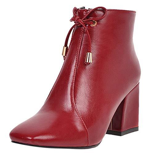 Luckycat Zapatos de Tacón para Mujer Botines Mujer Tacon Invierno Planos Tacon...